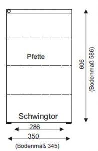 Grundriss - Einzelgarage aus Stahl mit Schwingtor - BRANDLGrundriss - Einzelgarage aus Stahl mit Schwingtor - BRANDL
