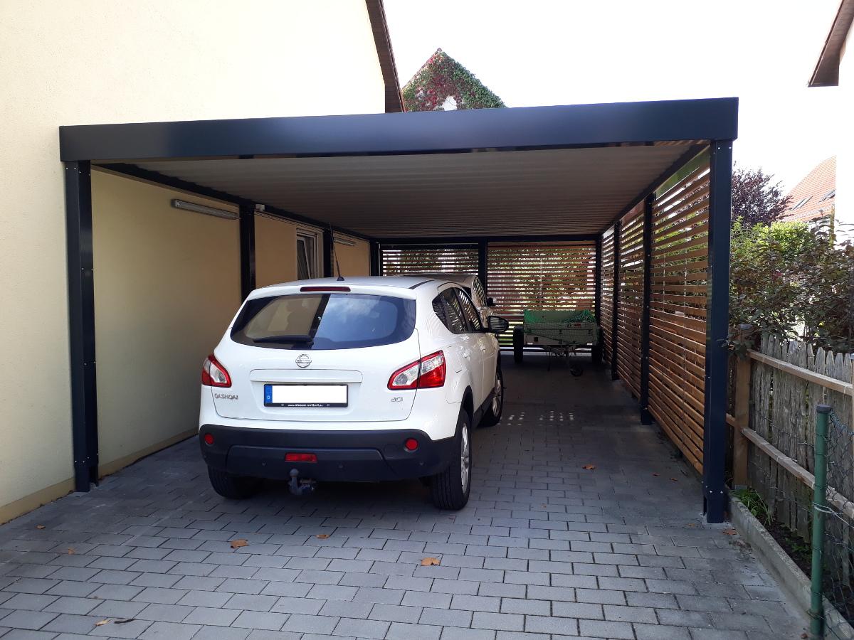 Einzel-Carport aus Stahl - BRANDL