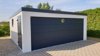 Stahl-Garage Außenansicht - Großraumgarage