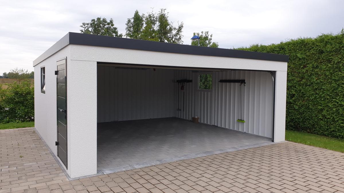 Stahl Garage von innen – Innenansicht + Elektro Installation und ...