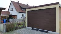 Einzel-Garage aus Stahl mit Sektionaltor (Hochraumgarage) - BRANDL