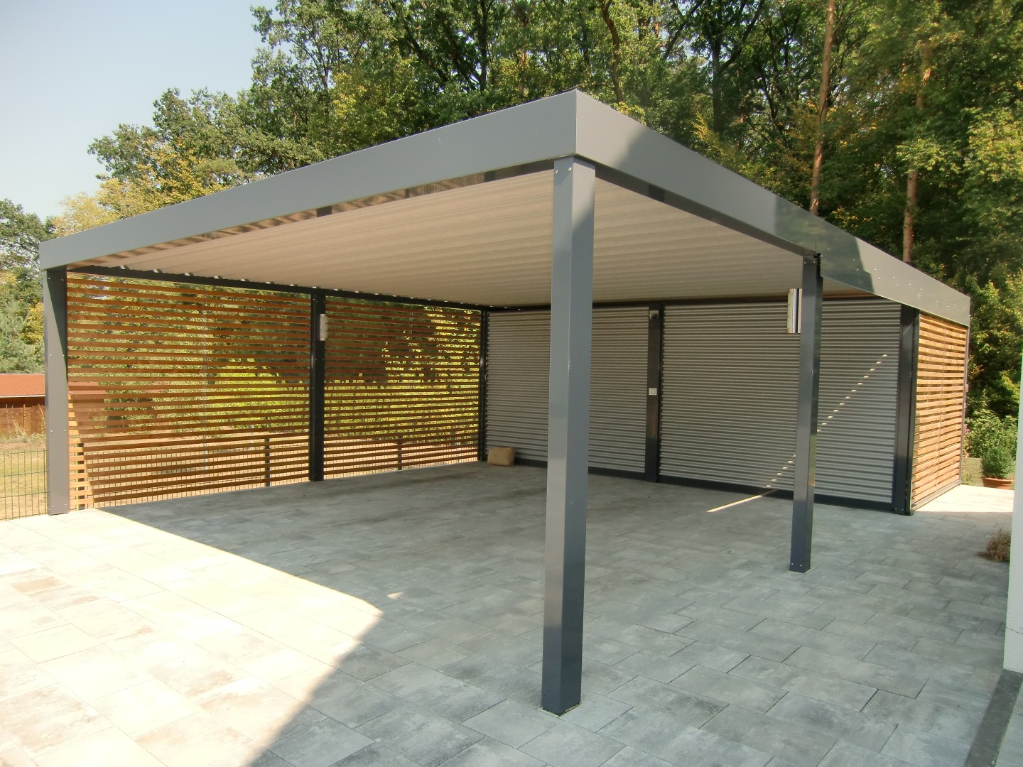 carport aus stahl n rnberg brandl garagen. Black Bedroom Furniture Sets. Home Design Ideas