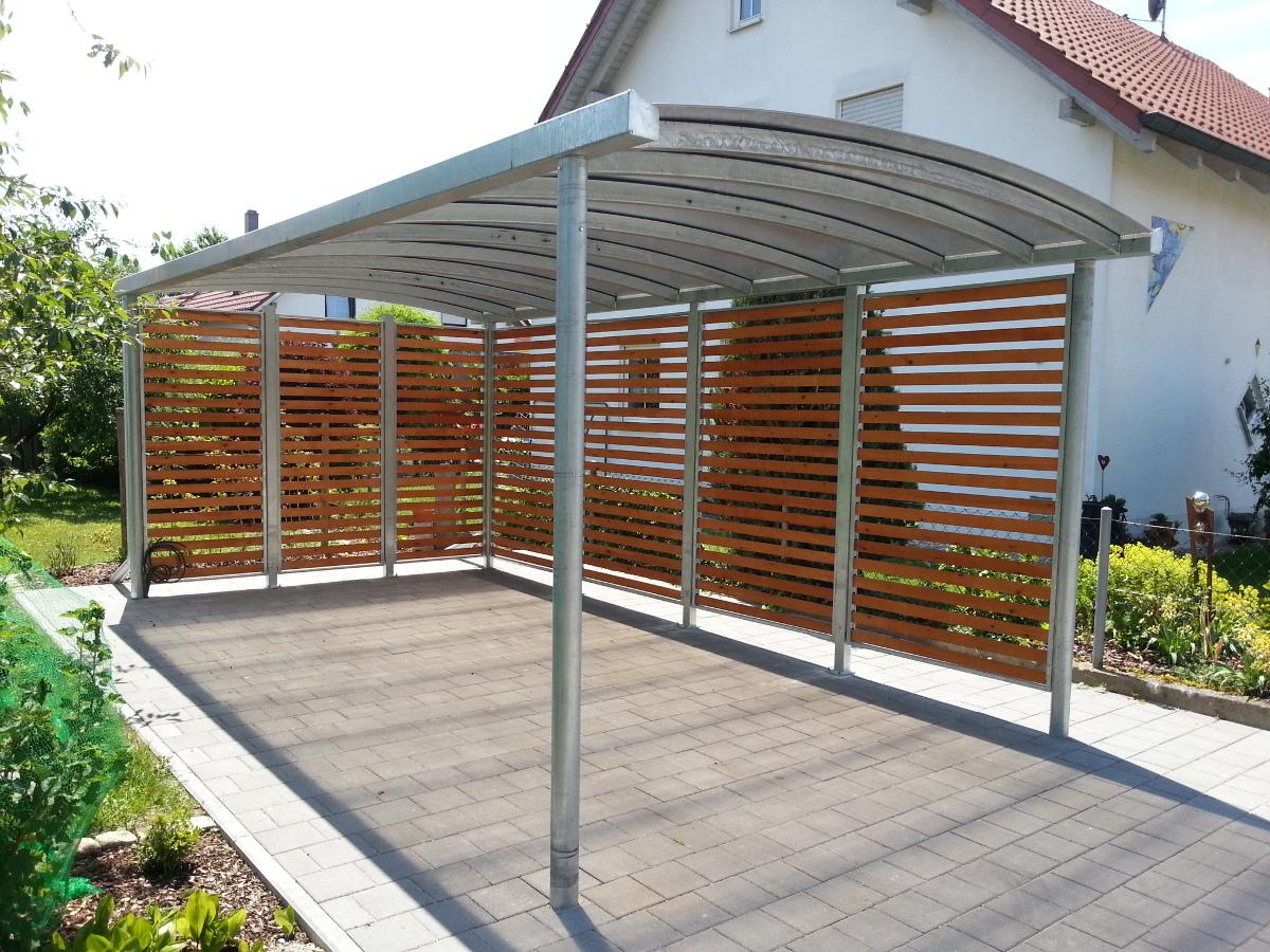 Einzel-Carport mit Bogendach - BRANDL