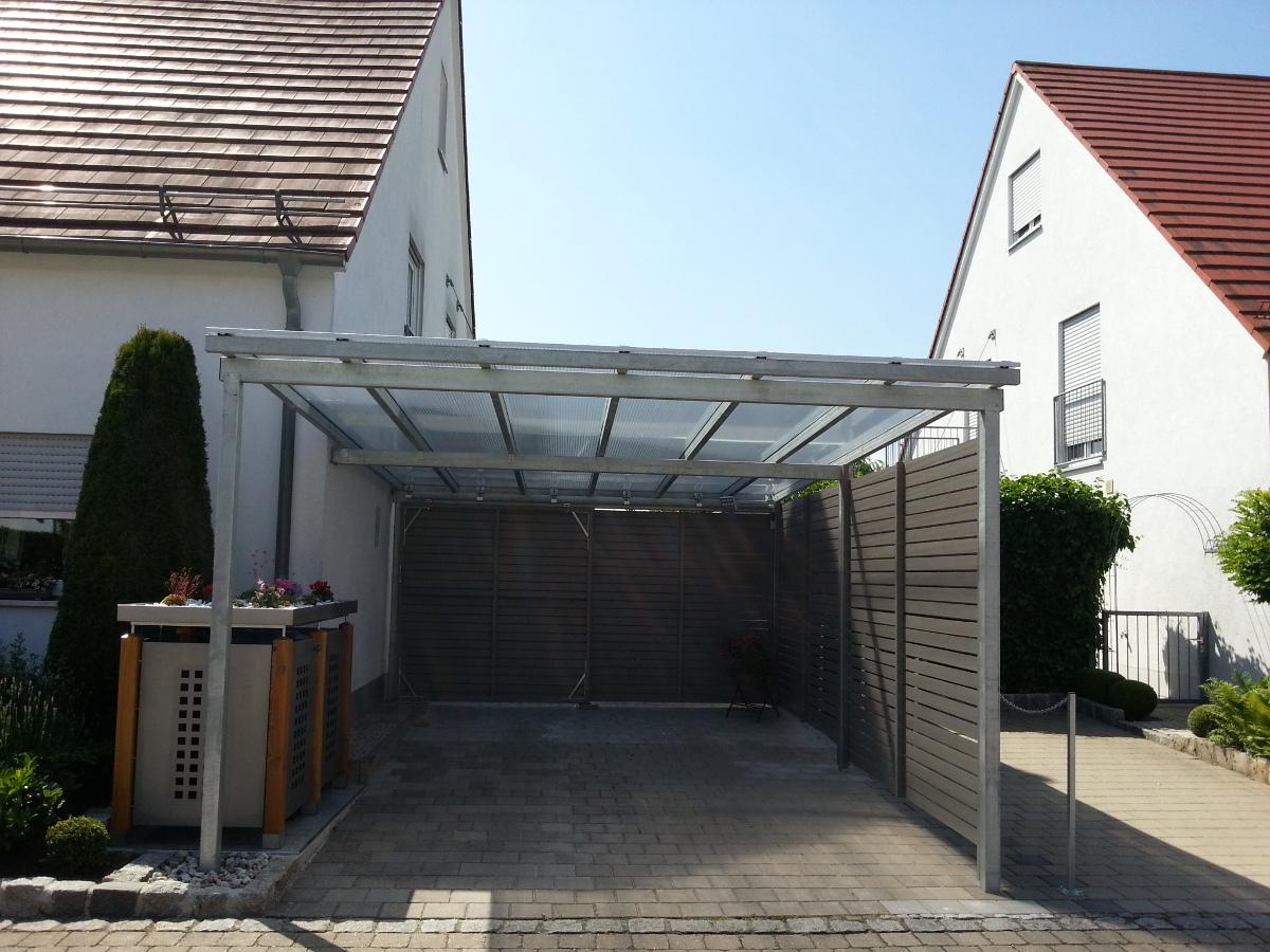 Einzel-Carport mit Pultdach - Überdachung - BRANDL