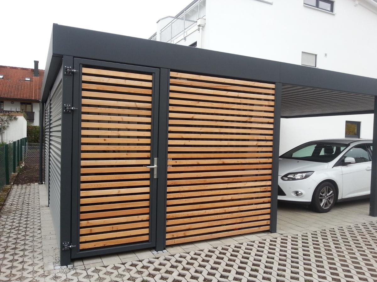 Doppel Carport Mit Gerateraum Abstellraum Hinten Integriert Brandl
