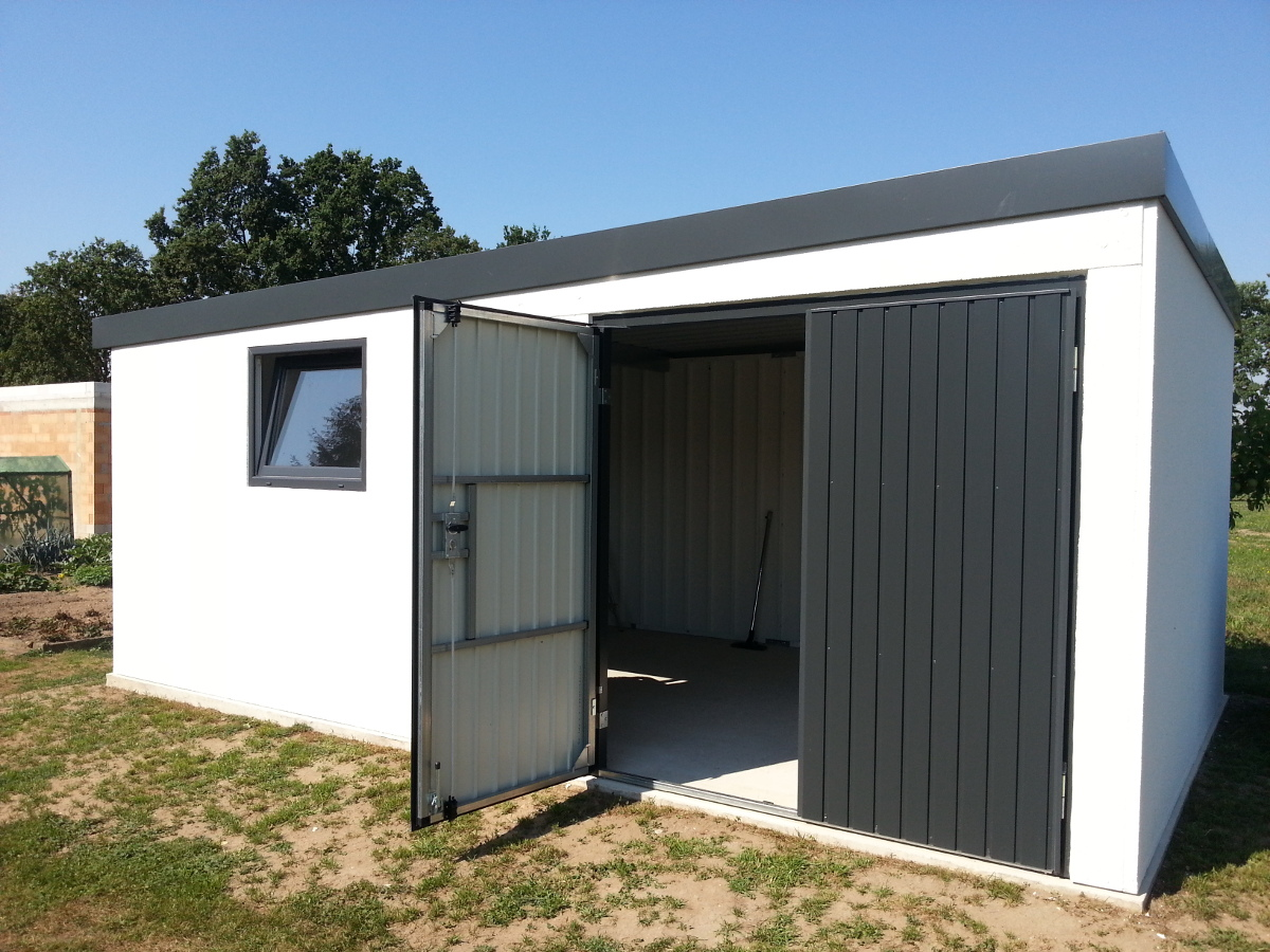 Einzelgarage aus STAHL als Gartengerätehaus (Mehrzweckraum) - BRANDL
