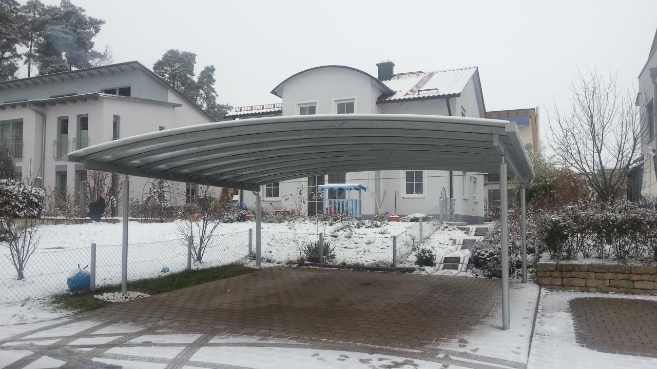 Doppel-Carport mit Bogendach - Überdachung - BRANDL