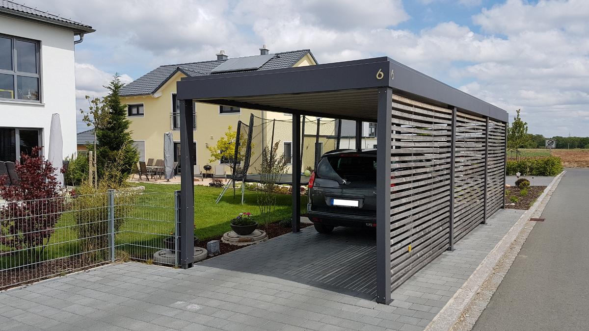 carport aus stahl brandl. Black Bedroom Furniture Sets. Home Design Ideas