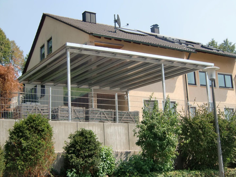 Doppel-Carport mit Pultdach (Überdachung) - BRANDL