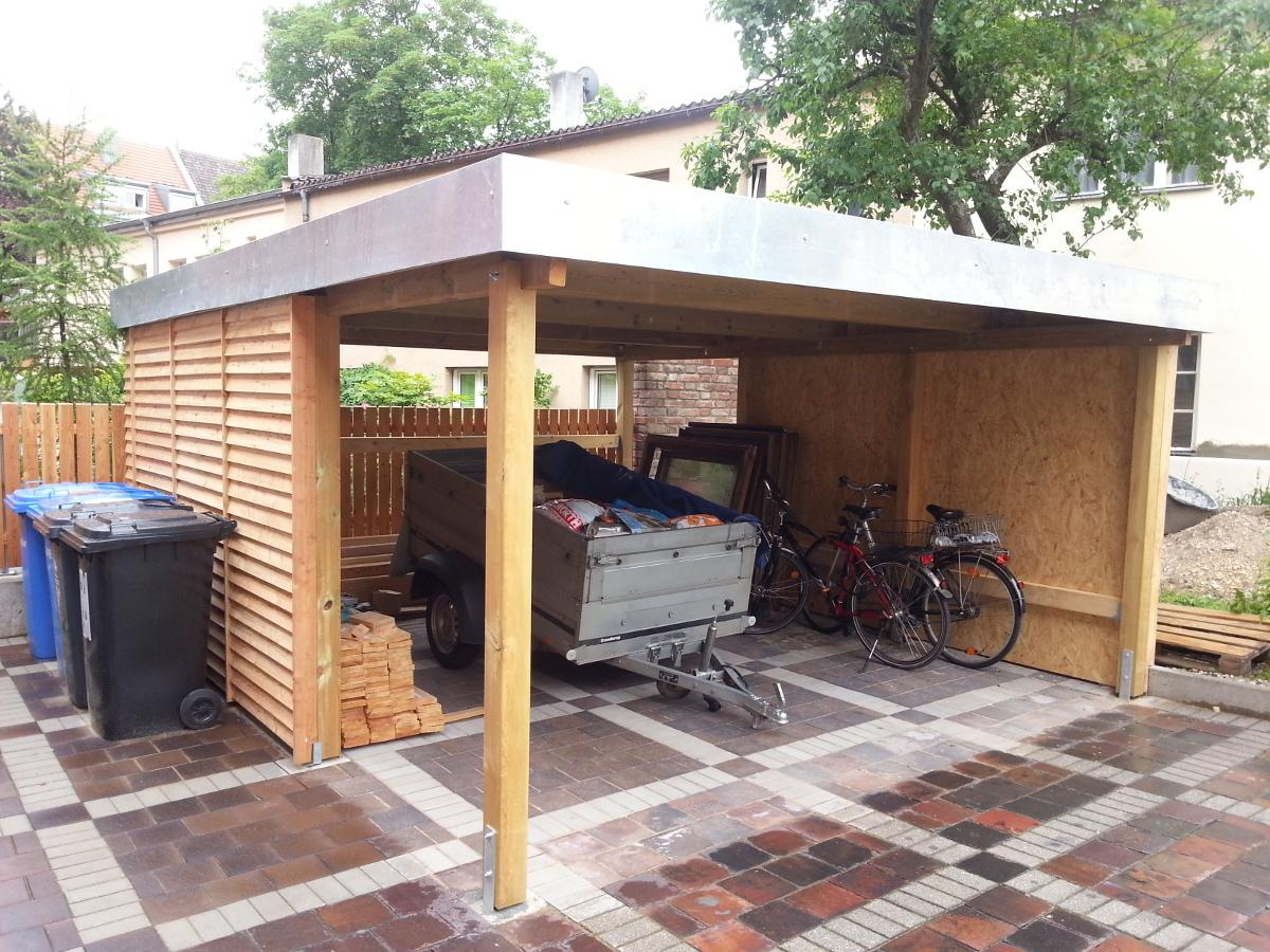 Einzel-Carport aus Holz - BRANDL