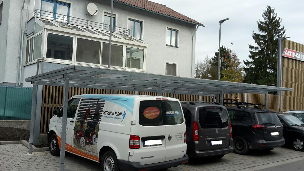 Reihen-Carport mit Pultdach (Überdachung) - BRANDL