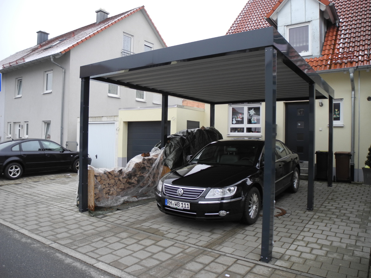 einzel carport aus stahl brandl. Black Bedroom Furniture Sets. Home Design Ideas