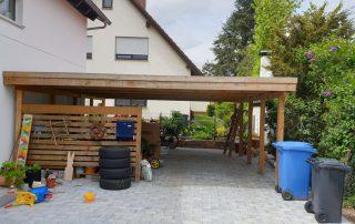 Doppel-Carport aus Holz mit Holzblende - BRANDL