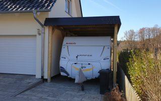 Einzel-Carport aus Holz für Wohnwagen (Carport für Caravan) - BRANDL