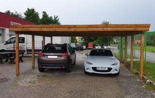 Doppel-Carport aus Holz - BRANDL