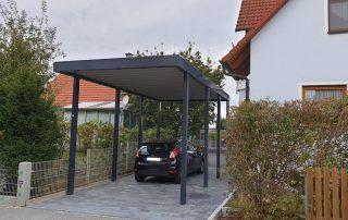 Einzel-Carport aus Stahl – für Wohnwagen oder Wohnmobil - BRANDL