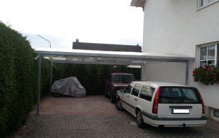 Doppel-Carport aus Stahl mit Bogendach (Überdachung) - BRANDL