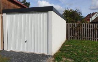 Einzel-Garage aus Stahl mit Schwingtor - BRANDL