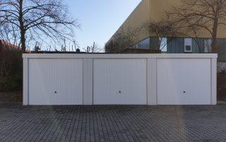 3er-Reihen-Garage aus Stahl mit Schwingtoren - BRANDL