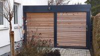 Einzel-Carport aus Stahl als Geräteraum oder Mülltonnenbox - BRANDL