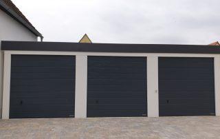 3er-Reihen-Garage ISO aus Stahl mit Sektionaltoren (Hochraumgarage) - BRANDL