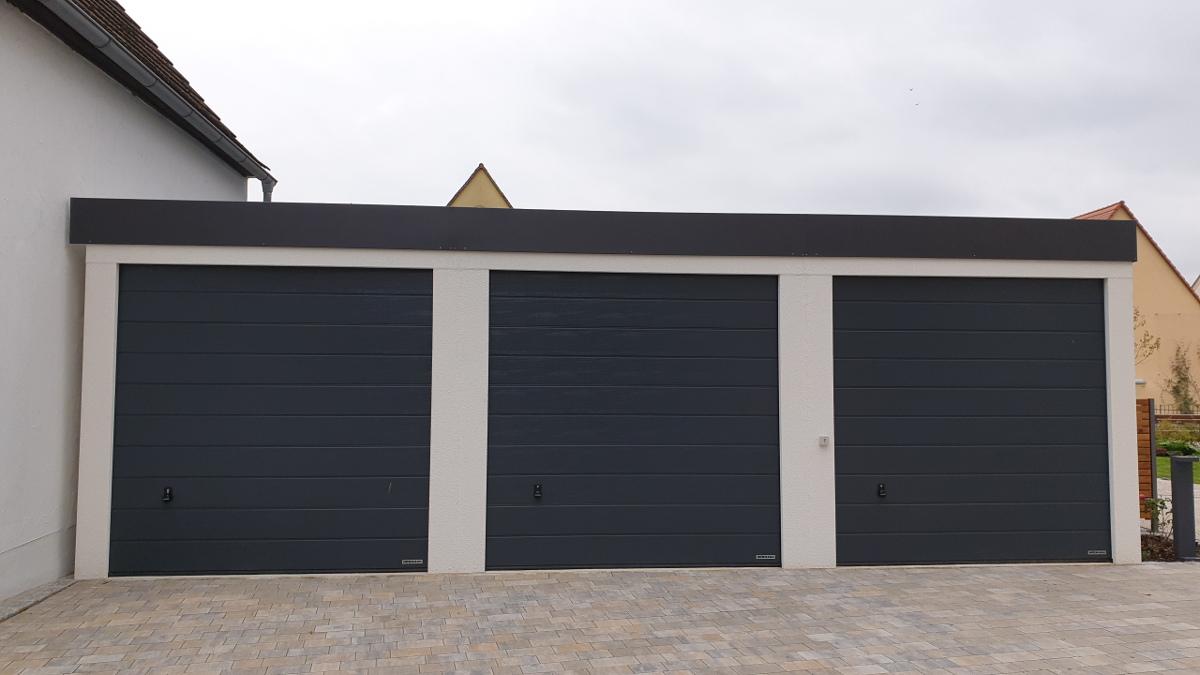 21er Reihen Garage ISO aus Stahl mit Sektionaltoren Hochraumgarage ...