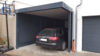 Einzel-Carport aus Stahl mit Schrägschnitt - BRANDL